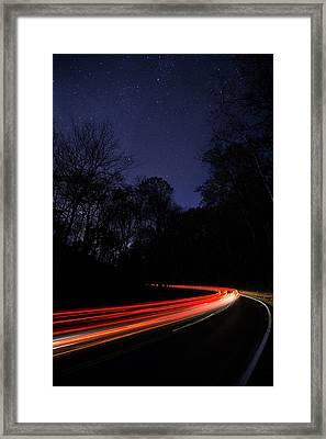 Car Trails Framed Print