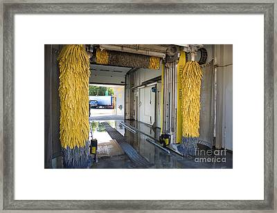 Car Wash Interior Framed Print