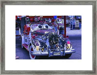 Car With Windshield Eyes Framed Print by Garry Gay