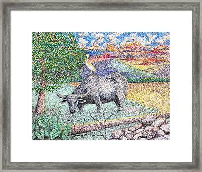 Carabao Framed Print by Cyril Maza