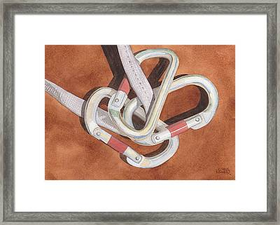 Carabiners Framed Print by Ken Powers