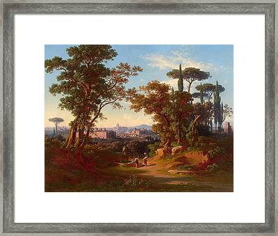 Caracalla-thermae And Palatin Framed Print by Celestial Images