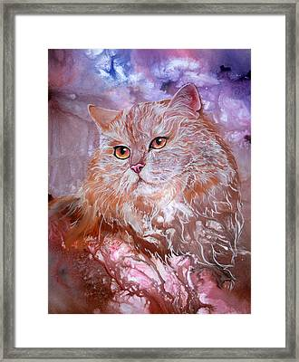 Caramel Cream Framed Print