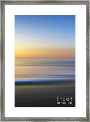 Caramel Dawn - Part 3 Of 3 Framed Print by Sean Davey