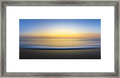 Caramel Dawn    Framed Print by Sean Davey