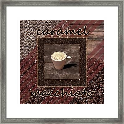 Caramel Macchiato - Coffee Art Framed Print by Anastasiya Malakhova