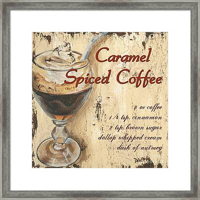 Caramel Spiced Coffee Framed Print