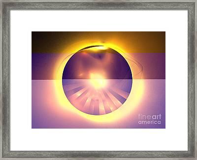 Caramel Sun Framed Print by Kim Sy Ok