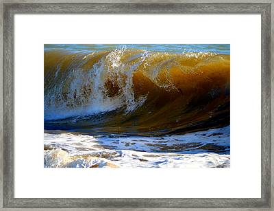 Caramel Swirl Framed Print