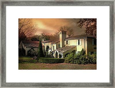 Caramoor Estate At Dusk Framed Print