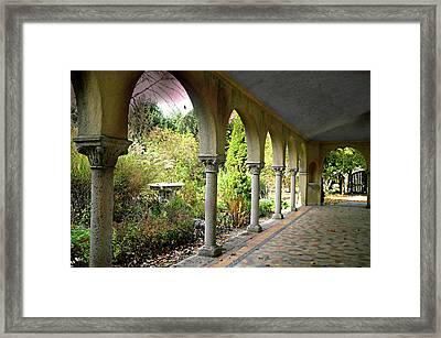 Caramoor Portico Framed Print