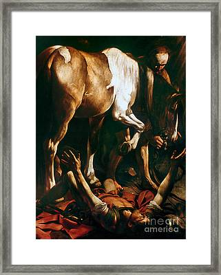 Caravaggio: St. Paul Framed Print by Granger