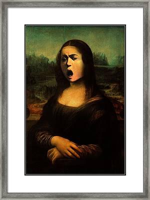 Caravaggio's Mona Framed Print by Gravityx9 Designs