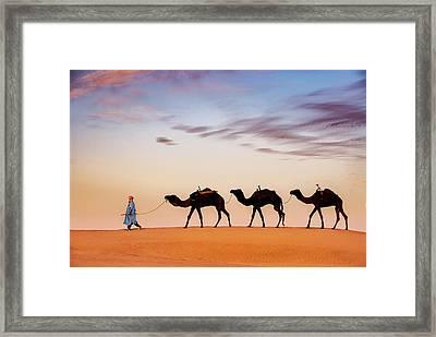 Caravan Framed Print by Okan YILMAZ