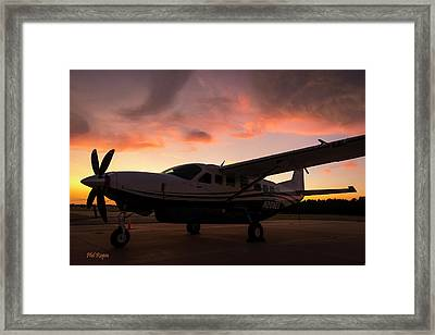 Caravan On The Ramp In The Sunset Framed Print