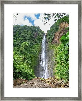 Carbet Falls Guadeloupe Framed Print
