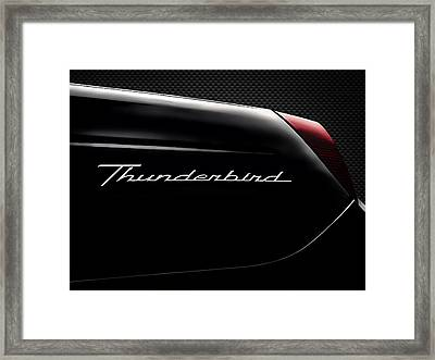 Carbon Black Thunder Framed Print