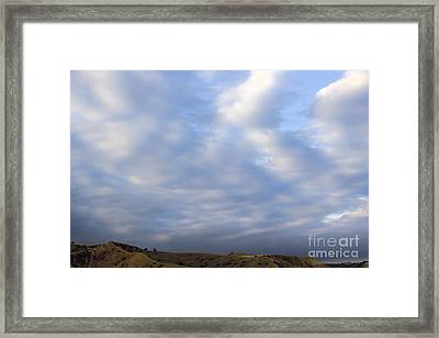 Carbon Canyon Hills And Big Sky Framed Print