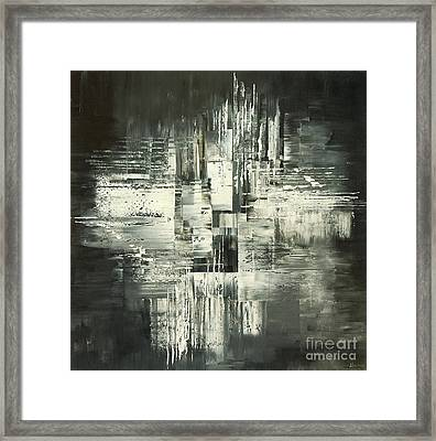Framed Print featuring the painting Carbon Concerto by Tatiana Iliina