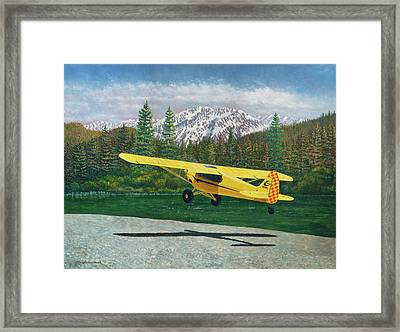 Carbon Cub Riverbank Takeoff Framed Print