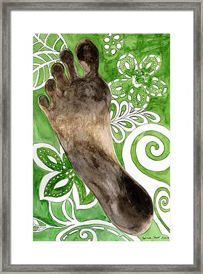 Carbon Footprint Framed Print by Caprice Scott