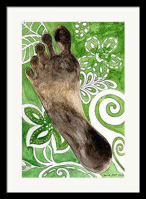 Footprint Framed Prints