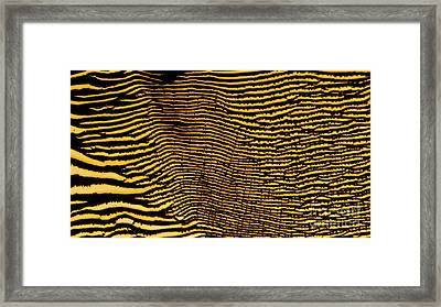 Interlaced Lines Framed Print