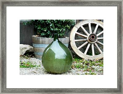 Carboy In Italy Framed Print by Amie Turrill Owens