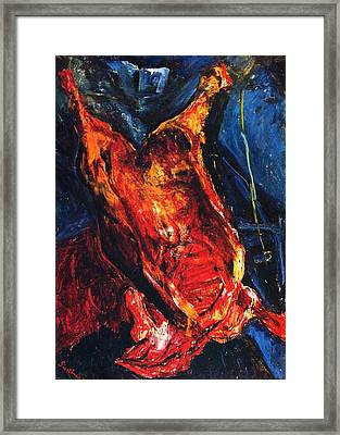 Carcass Of Beef Framed Print by Pg Reproductions