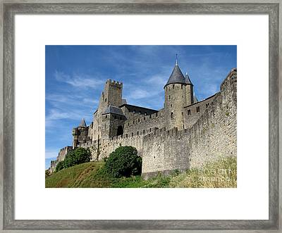 Framed Print featuring the photograph Carcassonne France by Jacqi Elmslie