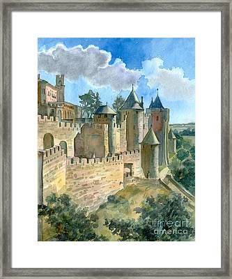 Carcassonne Framed Print by Katia Weyher