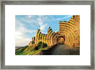 Carcassonne's Citadel, France Framed Print