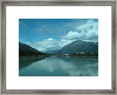 Carcross - So Much Blue Framed Print by William Thomas