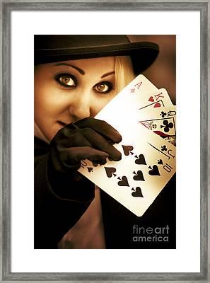 Card Magician Framed Print by Jorgo Photography - Wall Art Gallery