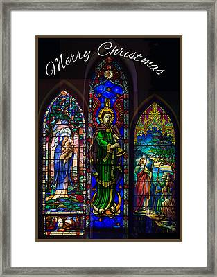 Card Merry Christmas Framed Print