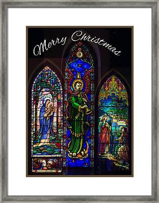 Card Merry Christmas Framed Print by Robert G Kernodle