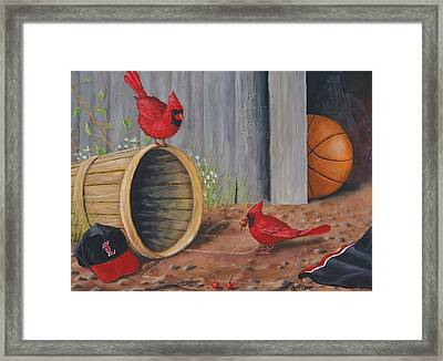 Card Practice Framed Print by Jeff Conway
