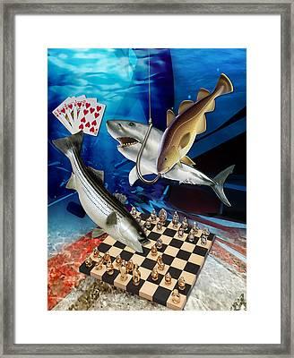 Card Shark And One On The Hook Framed Print
