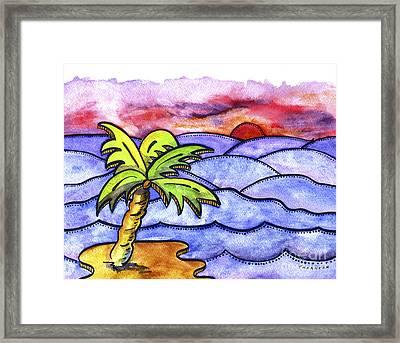 Rolling Seas Framed Print