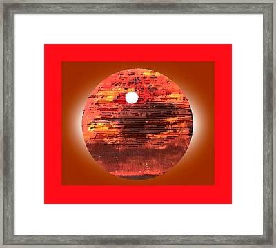 Cardboard Sunset Framed Print by Gabe Art Inc