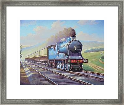 Cardean On Anglo-scottish Express. Framed Print