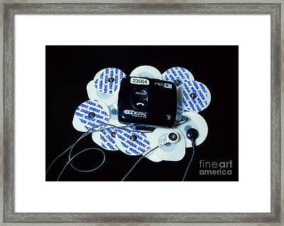 Cardiac Event Recorder Framed Print by Scimat
