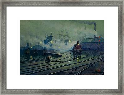 Cardiff Docks Framed Print