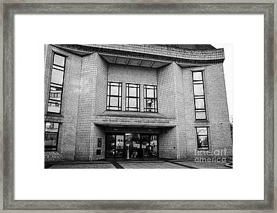 Cardiff Magistrates Court Wales United Kingdom Framed Print by Joe Fox