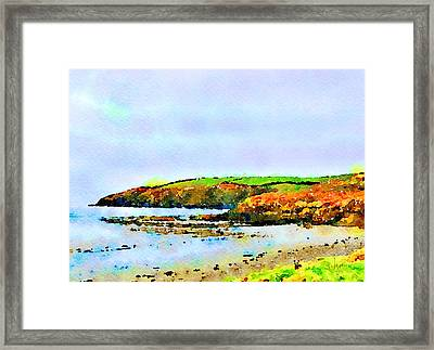 Framed Print featuring the painting Cardigan Bay by Angela Treat Lyon