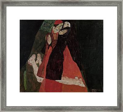 Cardinal And Nun Caress 1912 Framed Print by Egon Schiele