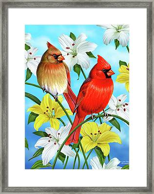 Cardinal Day Framed Print by JQ Licensing