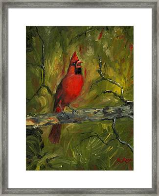 Cardinal Framed Print by Liz Rose