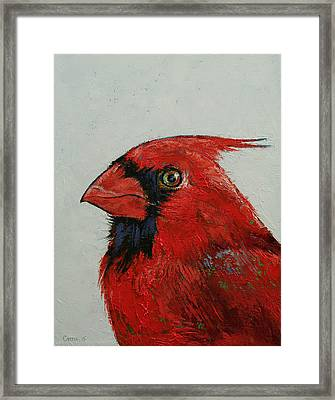 Cardinal Framed Print by Michael Creese