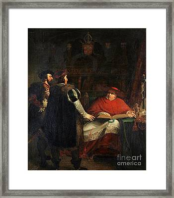 Cardinal Wolsey Refusing To Deliver Framed Print by MotionAge Designs